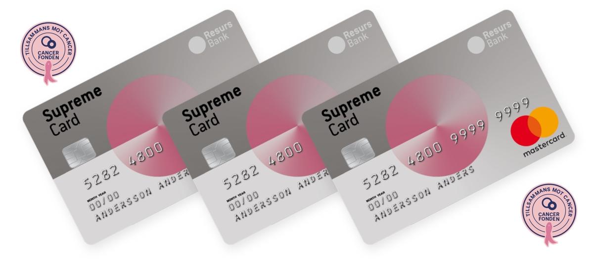Supreme Card Woman Cancerfonden